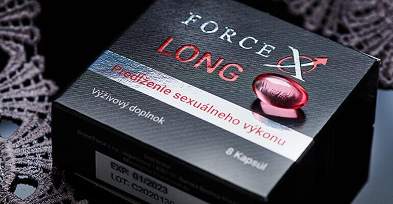 Force X LONG - predĺženie sexuálneho výkonu výživový doplnok