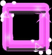 neónový štvorec ružový